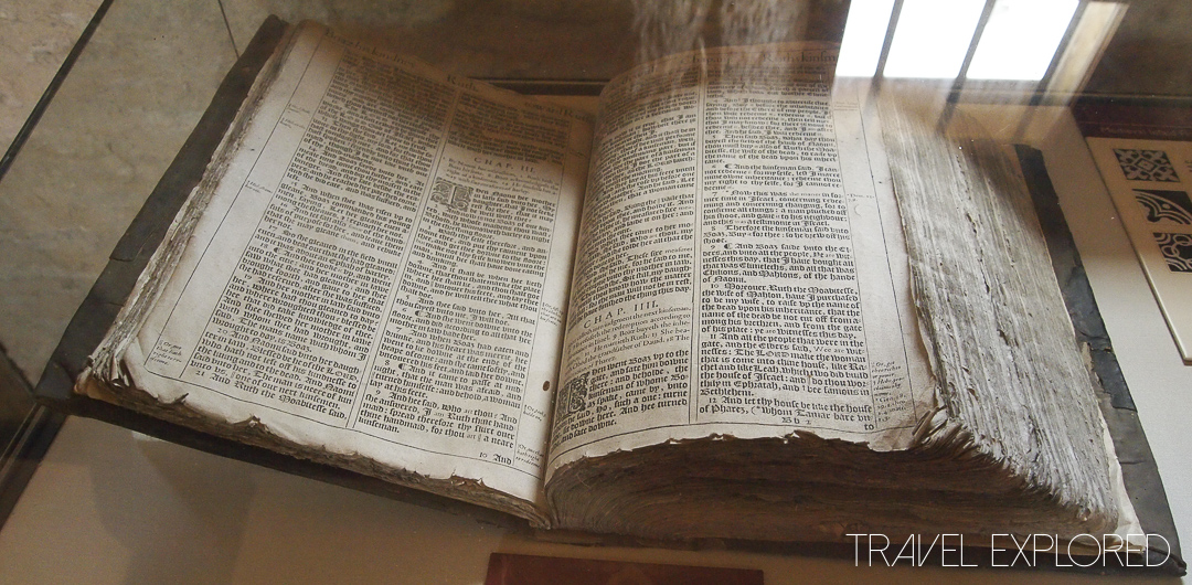Farleigh Hungerford Castle - 16th Century Bible in Priests Quarters