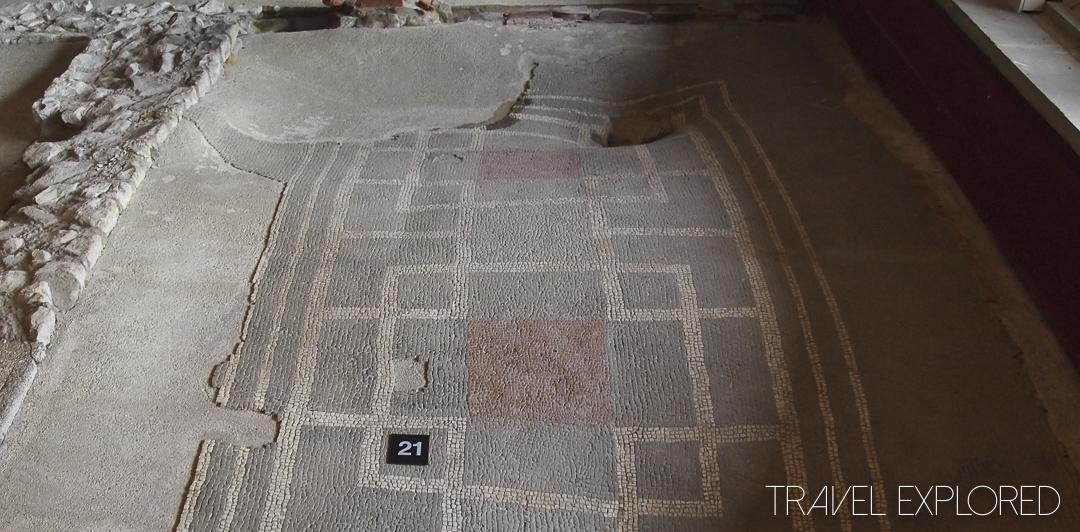 Roman Palace - Mosaic Floor and Post Holes