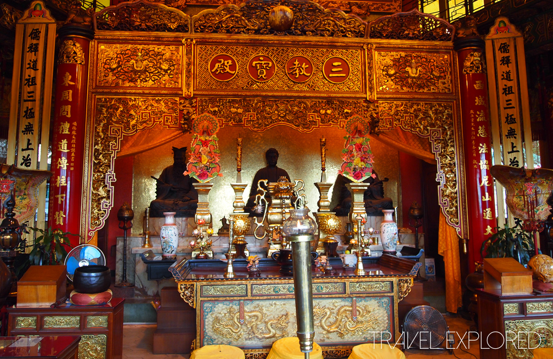 Hong Kong - Inside Main Temple at Yuen Yuen Institute