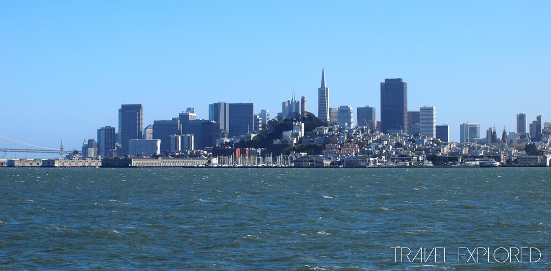 San Francisco - City Skyline from Alcatraz Ferry
