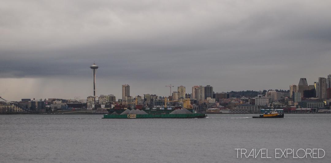 Seattle - View from Alki Beach of Seattle Skyline