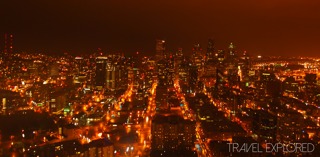 Seattle - View from Space Needle at night