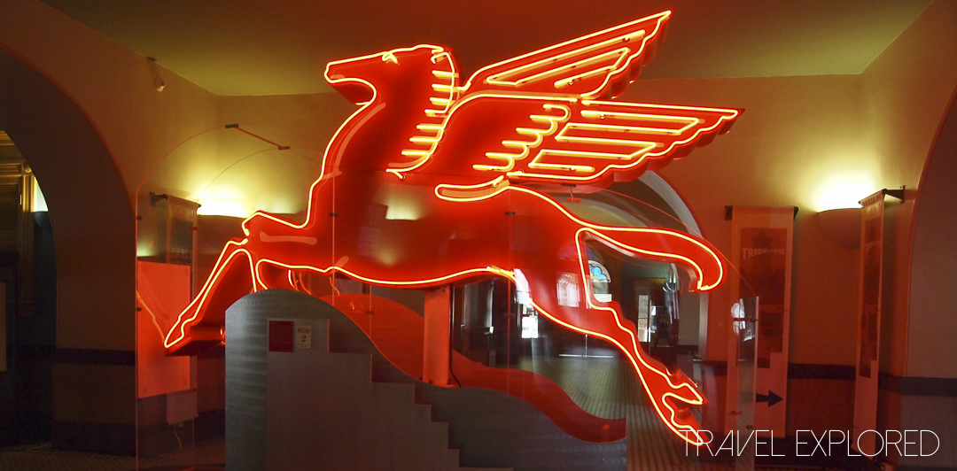 Dallas - Restored Pegasus Gas Station Sign