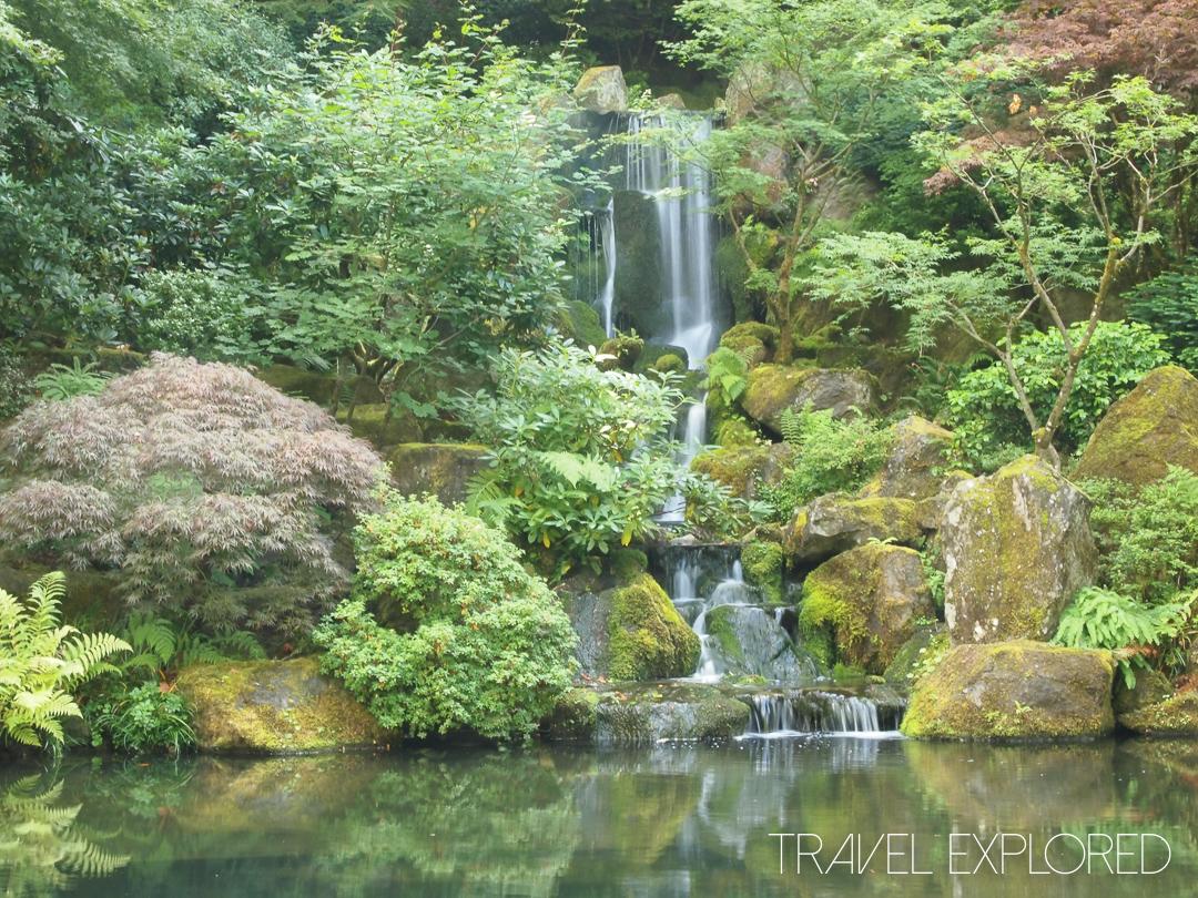 Portland - Japanese Garden Waterfall