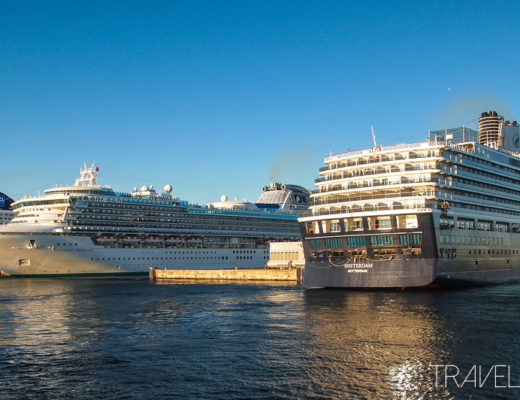Victoria - Cruise ships at Ogden Point - Norwegian Pearl, Sapphire Princess, & Holland America Line MS Oosterdam