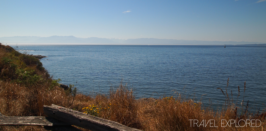 Victoria - Strait of Juan De Fuca with Olympic Mountains
