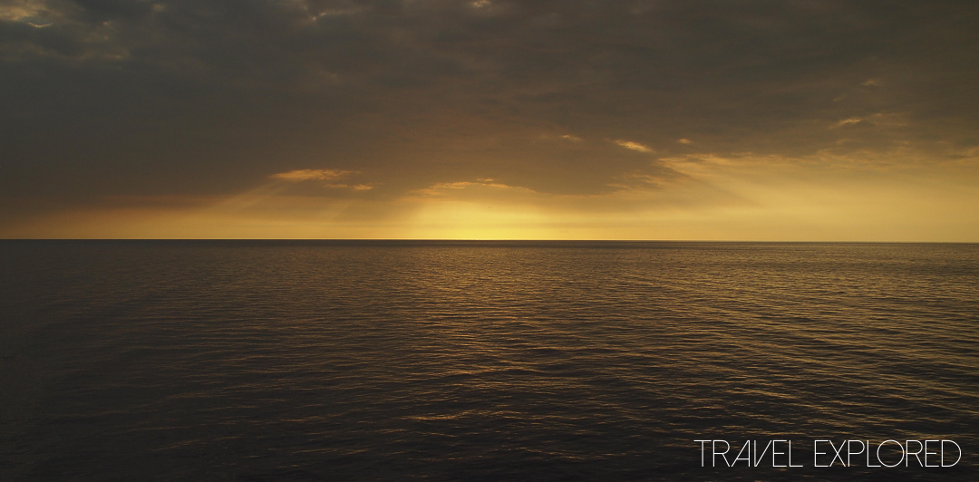 Volendam Cruise Sunset at Sea