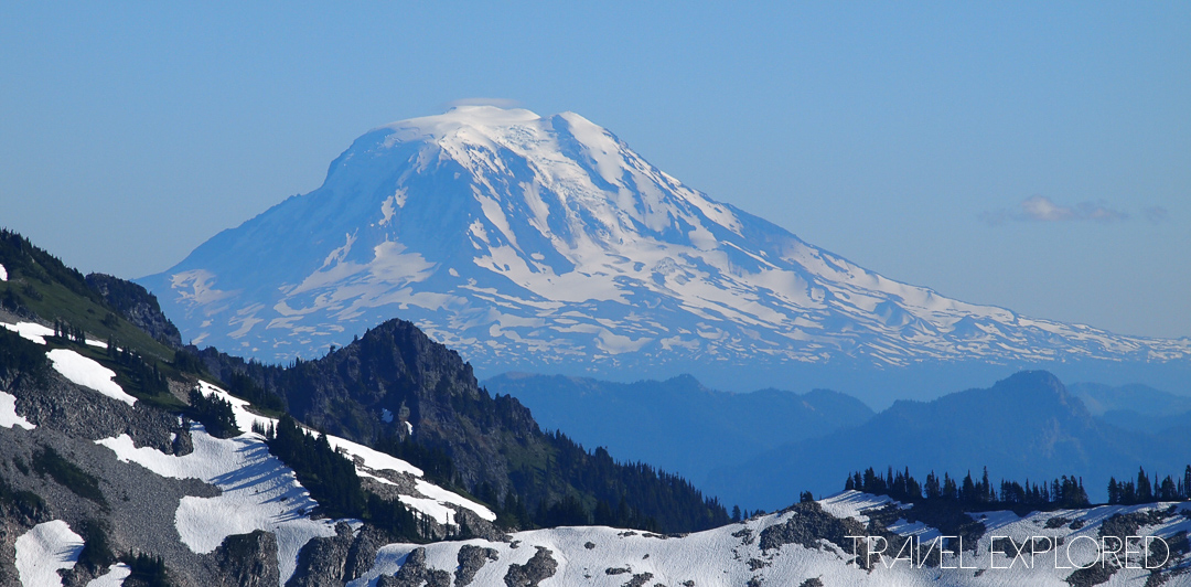 Mt Rainier - View to the south of Mt Adams