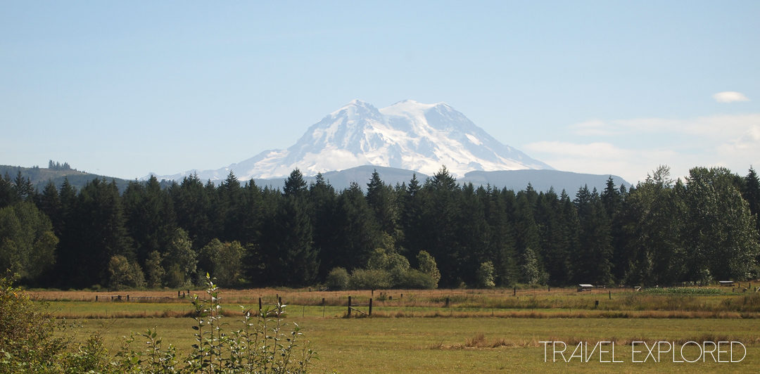 Mt Rainier - First view of the morning