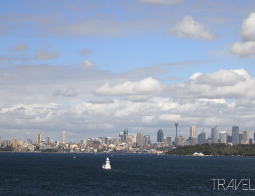 Sydney City Skyline from The Heads