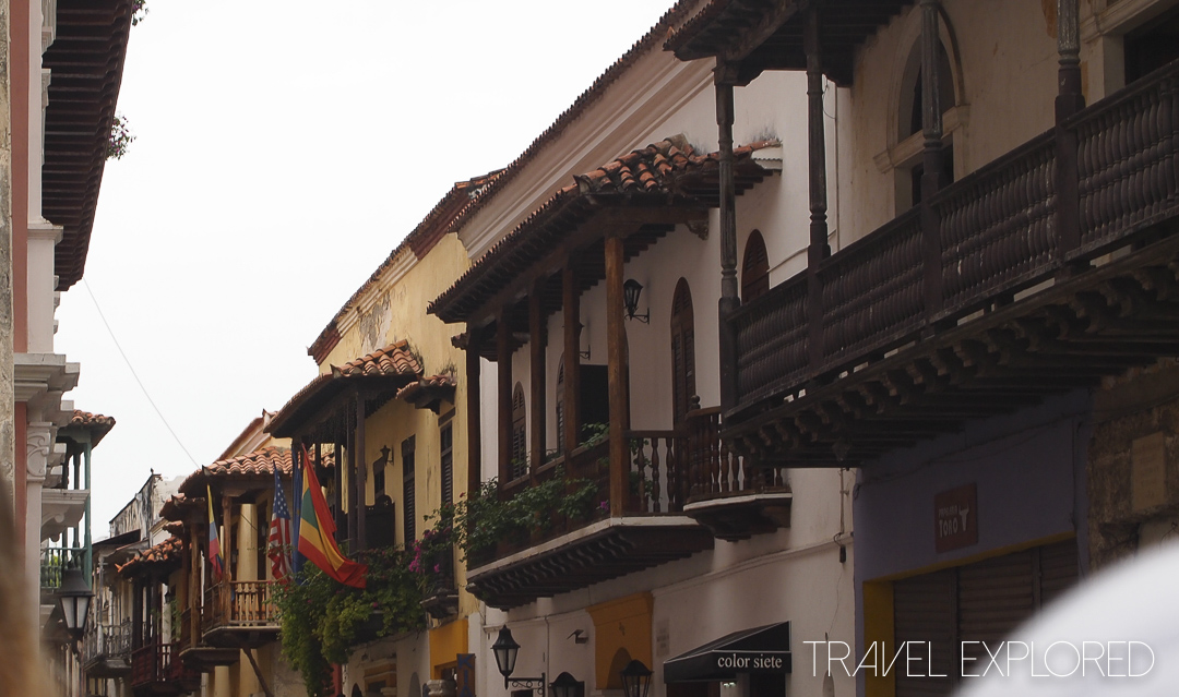 Cartagena - Columbia - Old Walled City Street