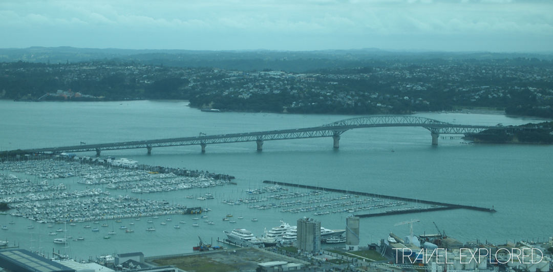 Auckland - Harbour Bridge from Skytower
