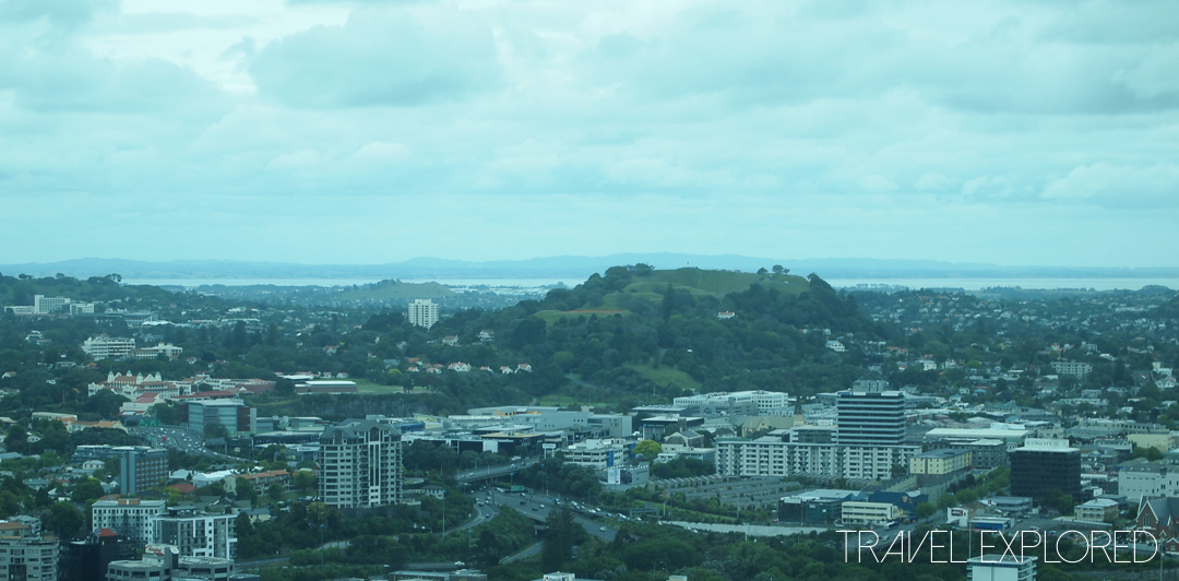 Auckland - View of Mount Eden from Skytower