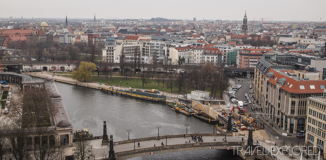 Berlin - View from Dome of Berlinerdom over Spree River