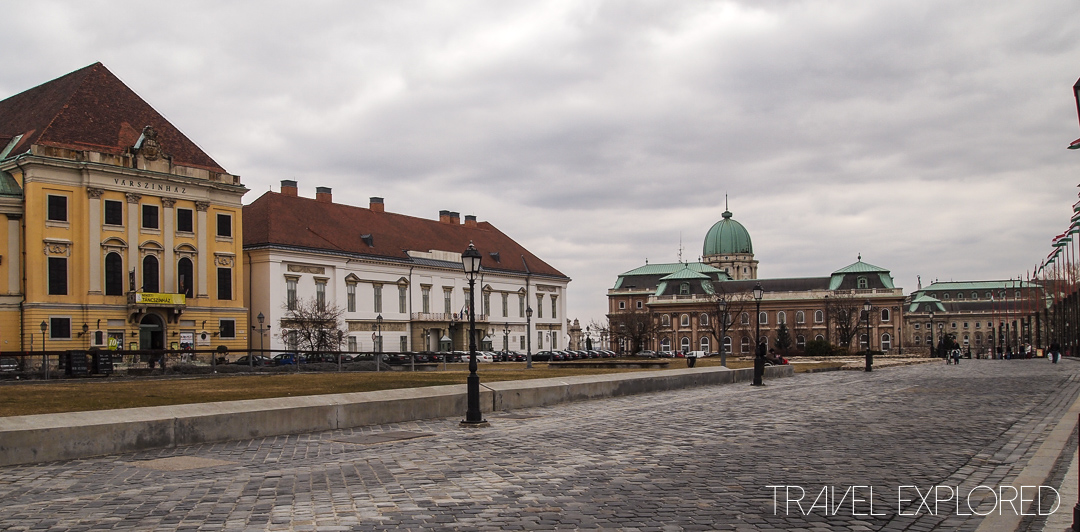 Budapest - Former Royal Palace (Right) & President Residence (Middle)