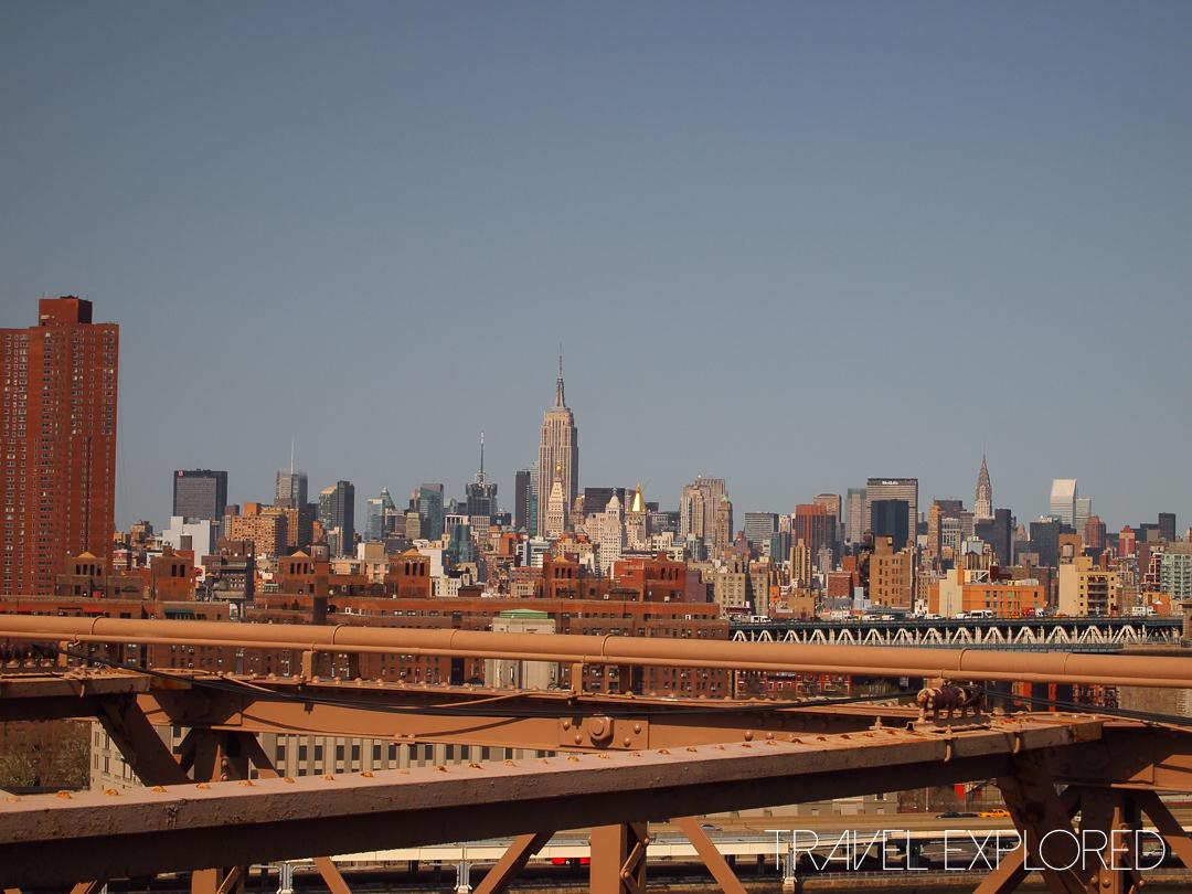 New york - Brooklyn Bridge Midtown Skyline