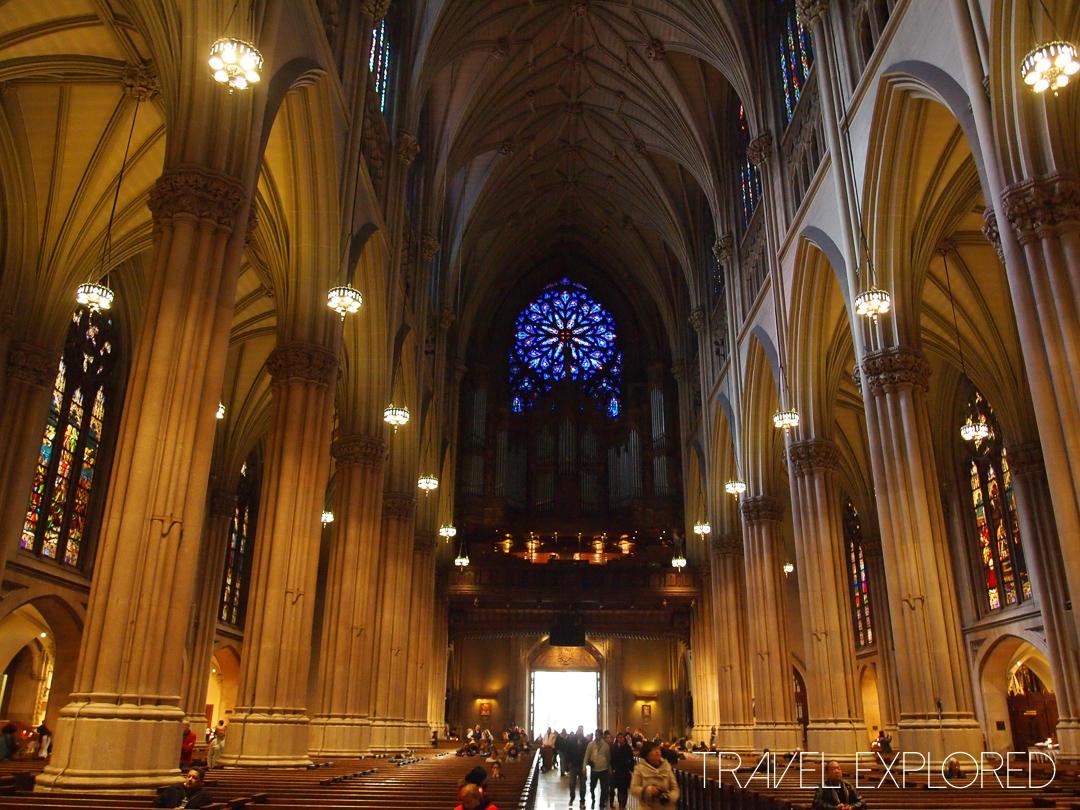 New York - St Patrick's Church 5th Avenue Interior