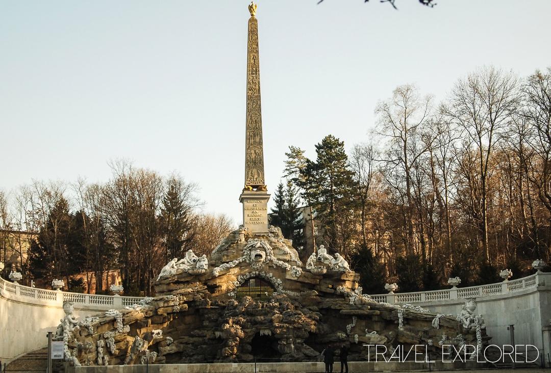 Vienna - Schloss Schoenbrunn Palace Obelisk Fountain