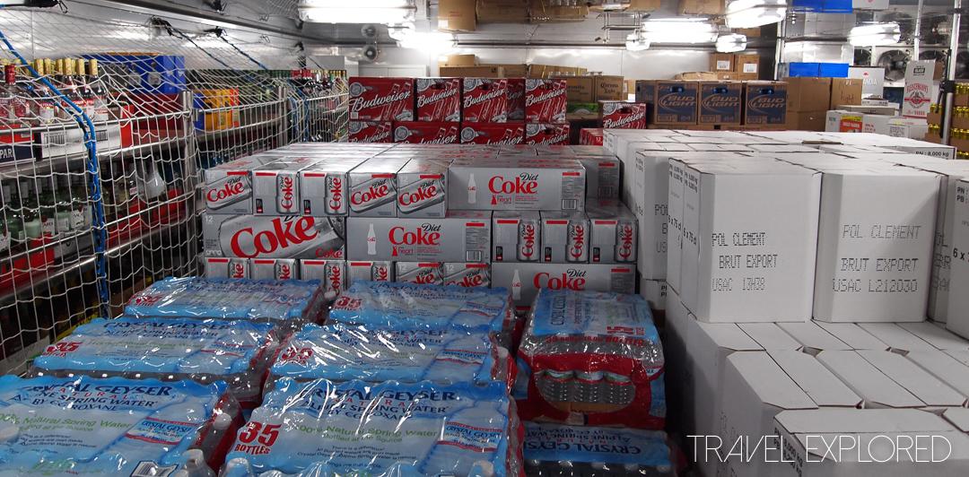 Nieuw Amsterdam Behind The Scenes - Drink Storage