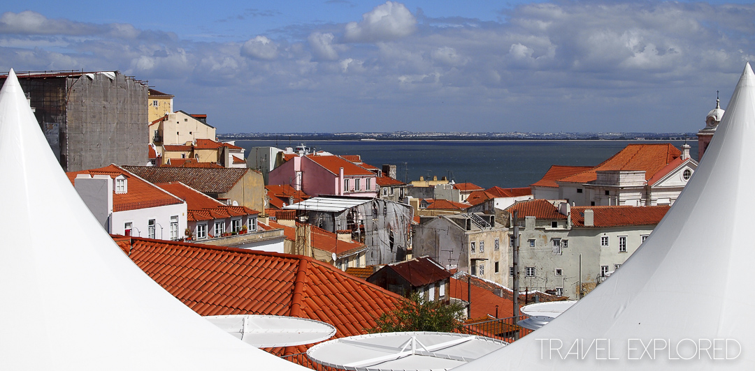 Lisbon - Looking across the rooftops