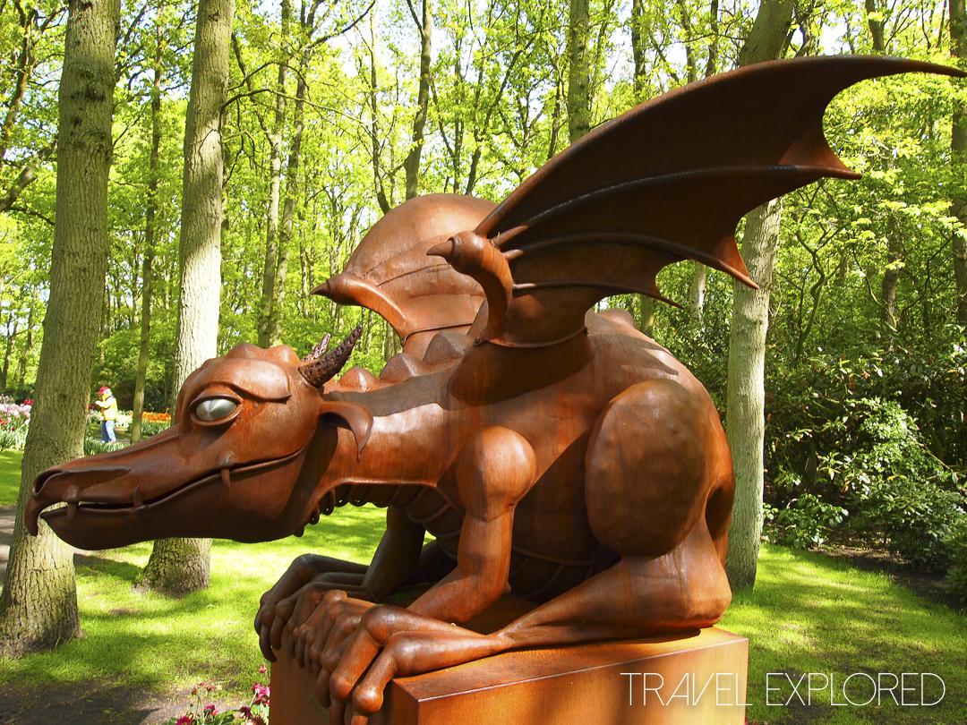 Amsterdam - Keukenhof Gardens Statue