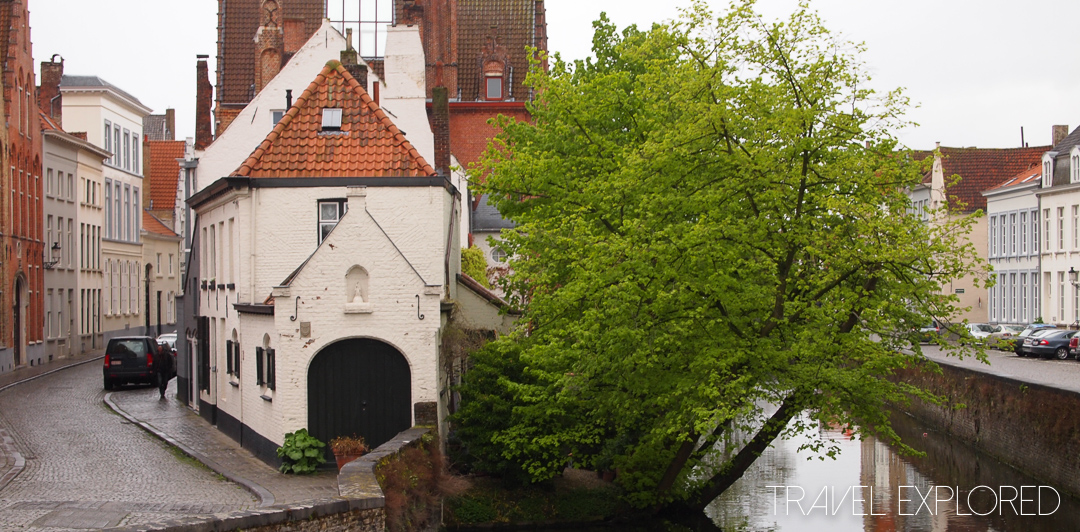Bruges - Small House beside canal