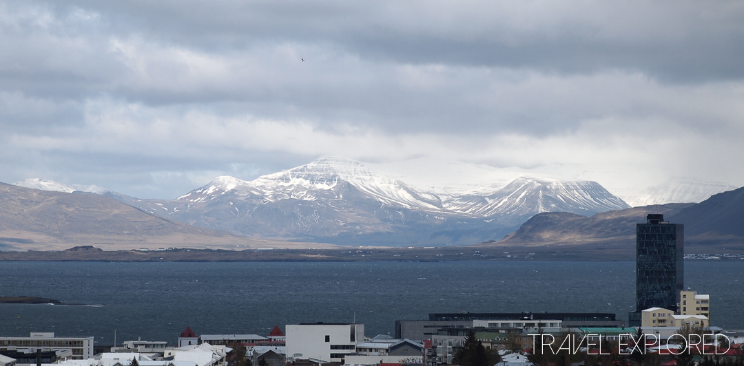 Reykjavik - View to mountains from Perlan Building