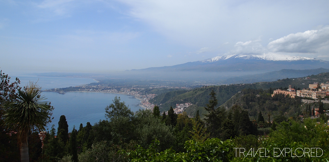 Catania - Mt Etna from Roman Crego Theatre
