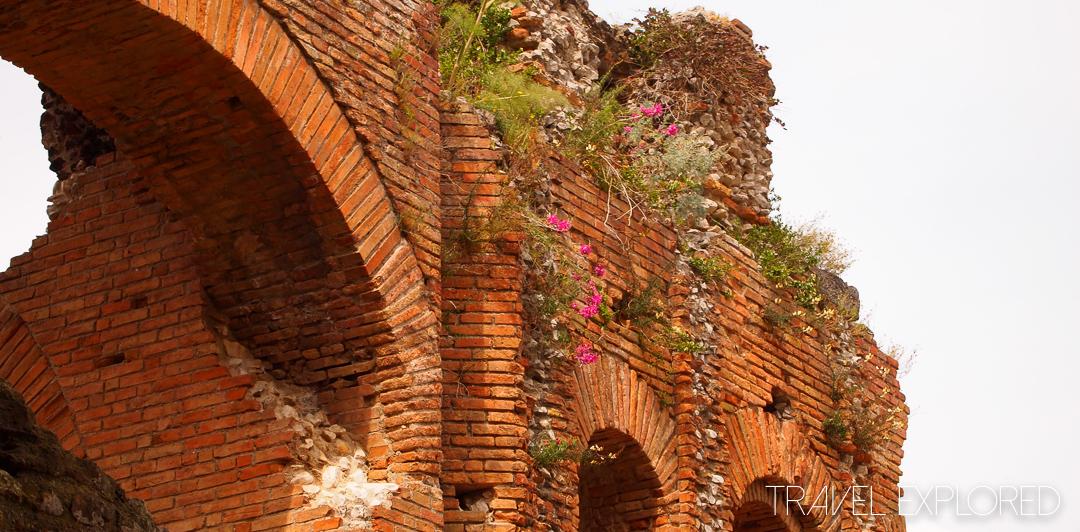 Catania - Roman Greco Theatre Wall