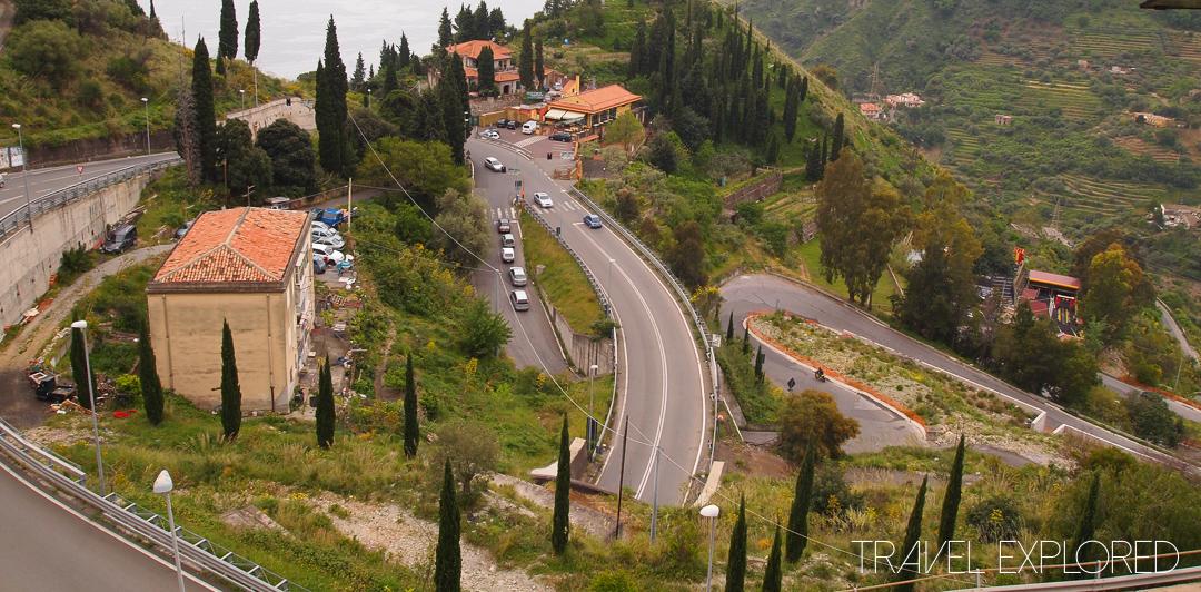 Catania - Winding Road to Taormina