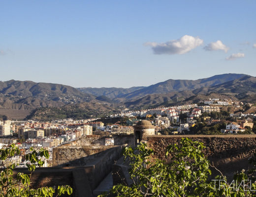 Malaga Inland view from Gibralfaro Castle