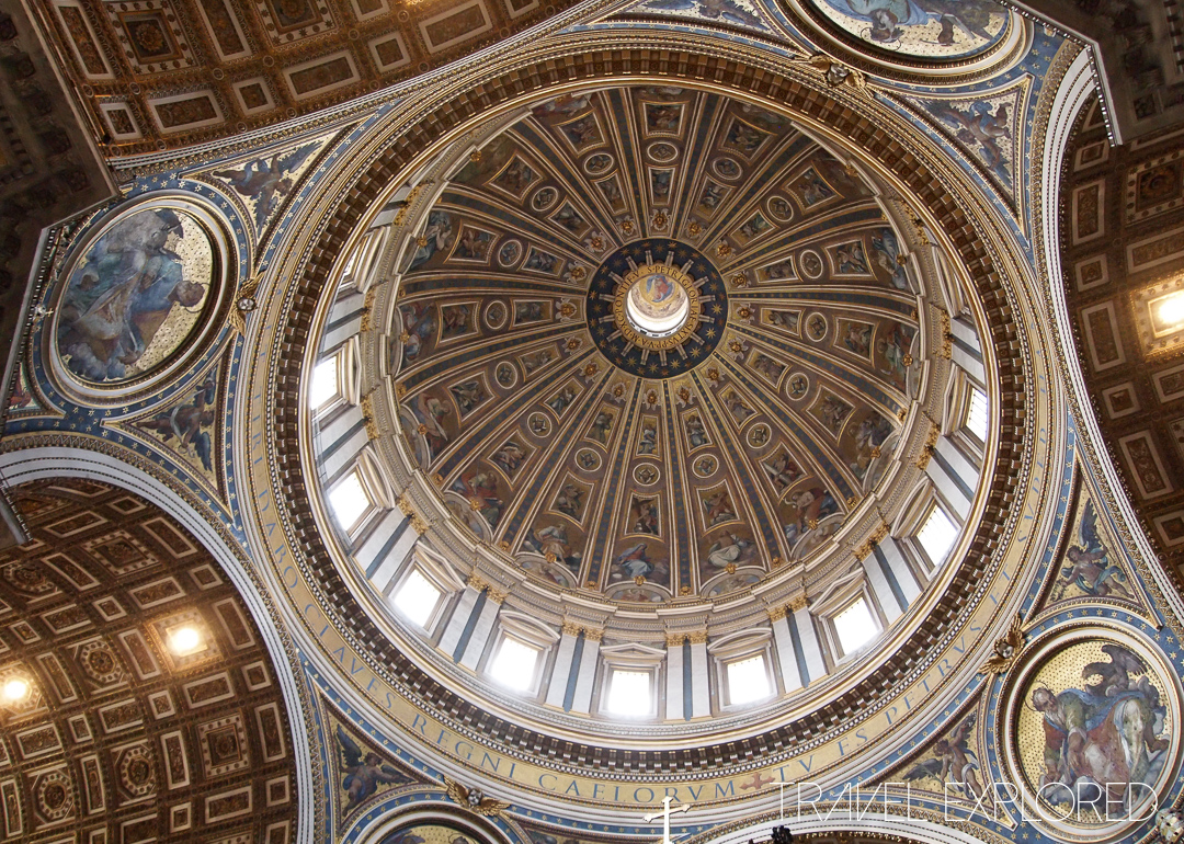 Rome - St Peter's Basilica Inside Dome