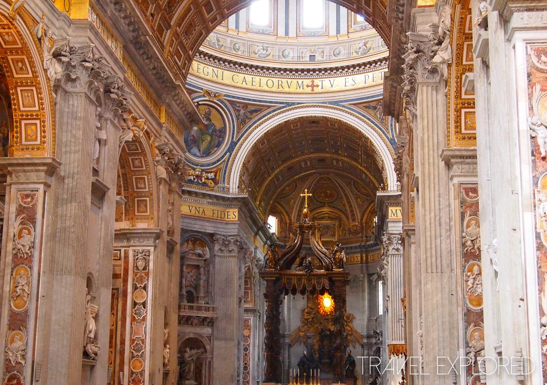 Rome - St Peter's Basilica Interior