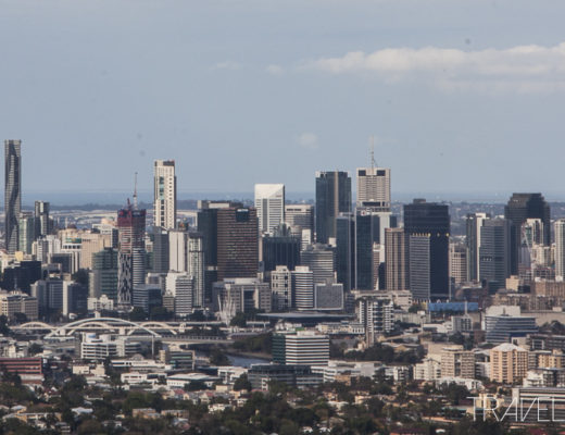 Brisbane city Skyline from Mount Coot-tha