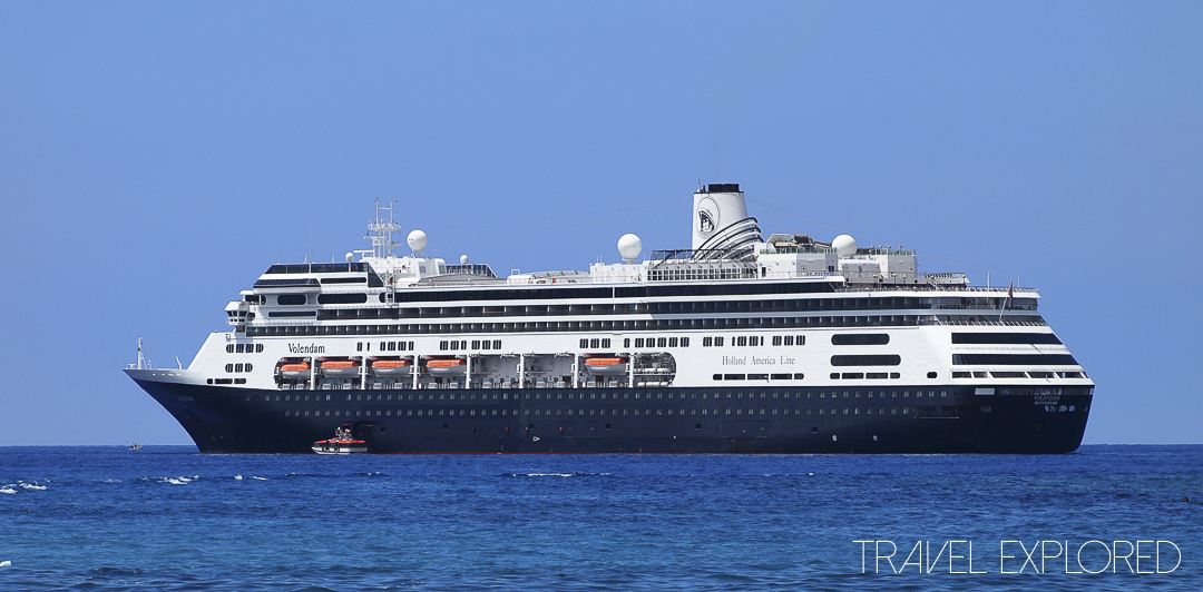 MS Volendam at Anchor