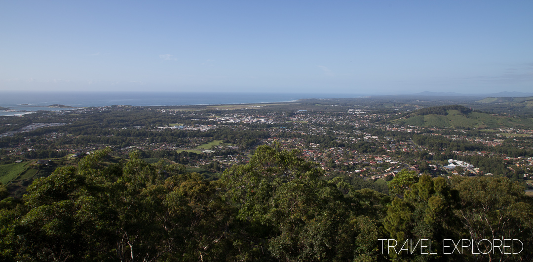 Lookout View of Coffs Harbour from road trip
