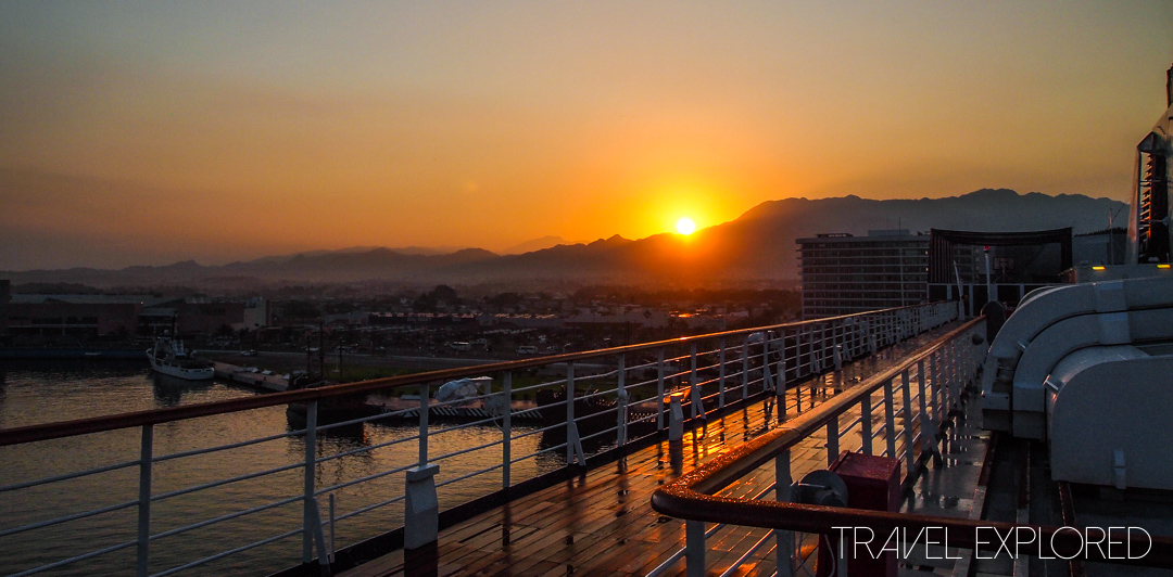 Early start for first port of call on Panama Canal Cruise