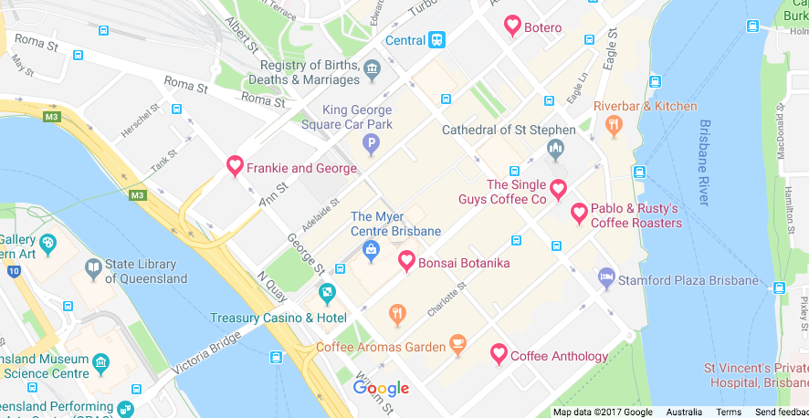 Brisbane Coffee Map