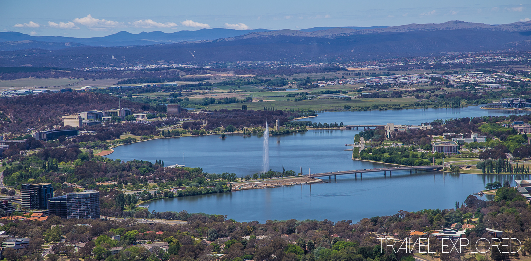 Canberra - Telstra Tower view of Lake Burley Griffin