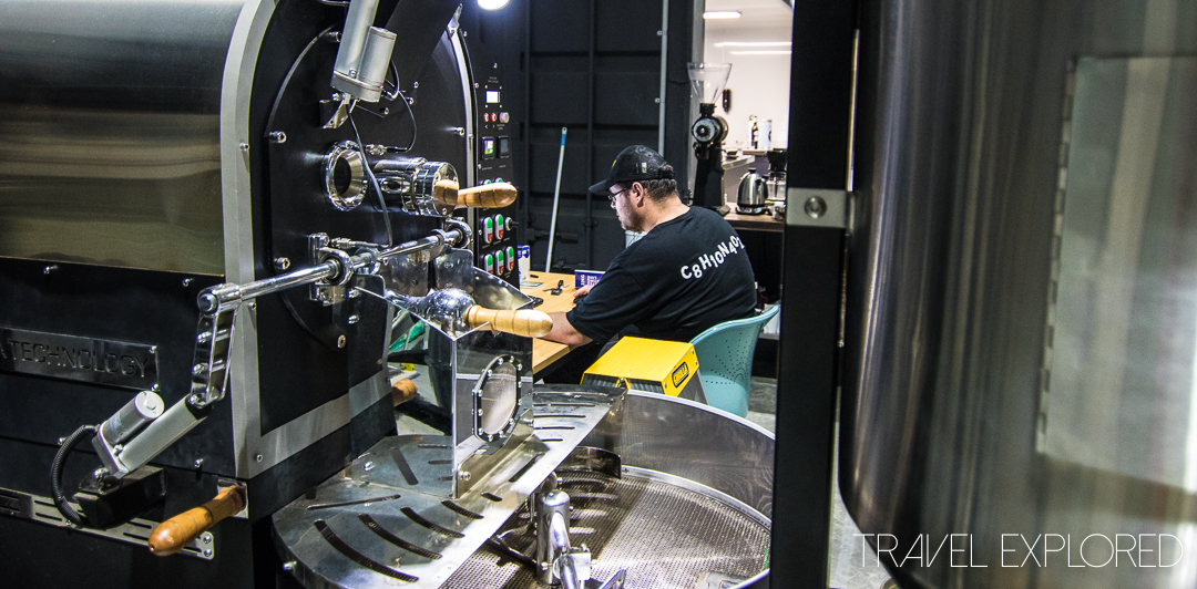 Viva Coffee Roasters - Preparing The Coffee Roaster