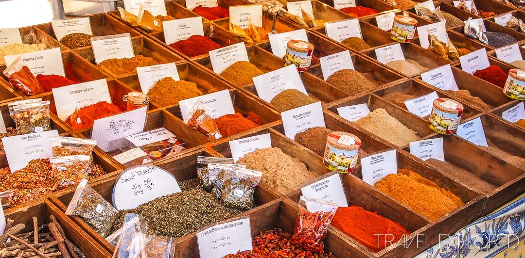 Flower Market, Spices - Nice, France