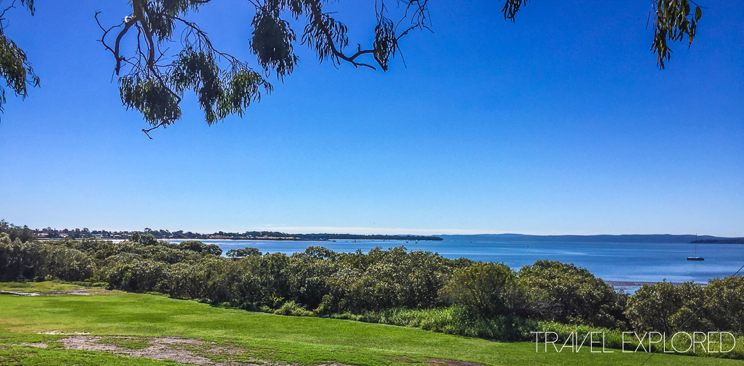 View to Victoria Point from Redland Bay Golf Course
